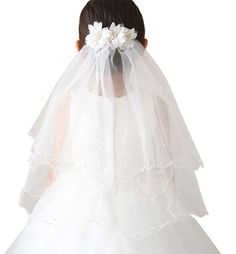 Ethel Girl's Multi-Layer Flower Tiara First Communion Veils. Type: Decorative Flowers. Veils Edge Style: Cut Edge. Included: 1*Children veil. Please Notice:Due to different monitors ,actual product may differ from pictures. Import.