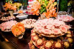 Detalhe da mesa de doces
