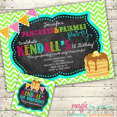 Digital Custom Pajamas and pancakes themed birthday by marcylauren, $20.00 Magic by Marcy