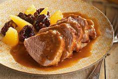 recetas navidenas solomillo a la naranja Holiday Recipes, Great Recipes, Favorite Recipes, Xmas Dinner, Xmas Food, Tapas, Food And Drink, Pork, Lunch