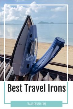 Best travel irons and travel steamers to fit all budgets. See which irons and steamers are the best for travelling. 7 iron examples differing by size, functions and looks. My favorite travel iron is included! Read reviews of the best irons for travel and see what travel steamers to bring on your trip. #traveliron #travelsteamer #travelproducts #travelgifts #travelgift #travelgeekery Best Shoes For Travel, Best Travel Gifts, Travel Tips For Europe, New Travel, Travel Items, Travel Products, Best Iron, International Travel Tips, Steamers
