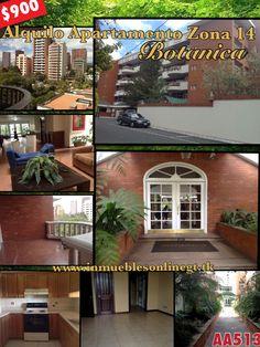 Apartment for rent Zona 14 Botanica Exclusivo complejo de apartamentos unico en su especie, vecindario definido selecto y exclusivo 1 Dormitorio 1 bańo  Edificio con piscina, gym, salon social, areas verdes, seguridad y mas. Renta $900 visitas 42387726 51844109 Ideal ejecutivos de alto nivel anaurrutia@live.com www.inmueblesonlinegt.tk Codigo AA513 en Facebook Bienes Inmuebles GT