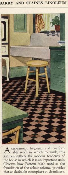 Barry and Staines Linoleum, 1934. From the Association for Preservation Technology (APT) - Building Technology Heritage Library, an online archive of period architectural trade catalogs. Select an era or material era and become an architectural time traveler.