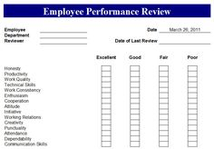 simple performance review template