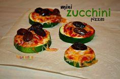 Mini Zucchini Pizzas -