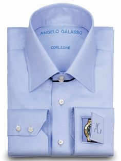 Angelo Galasso Exiting products like Angelo Galasso Jeans, Angelo Galasso Tie, Angelo Galasso Shoes and Polso Orologio Shirt. Polso Orologio Shirt Inspiration comes from President Gianni Agnelli and many more at Bespoke Shirts, Bespoke Clothing, Dapper Gentleman, Dapper Men, Gianni Agnelli, Dress Shirt And Tie, Dress Shirts, High Collar Shirts, Don Corleone