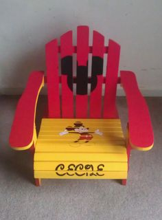 Childrens Hand-painted, Made to Order Adirondack Chair (Can Be Personalized) via Etsy