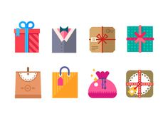 Gift icon set by Art store
