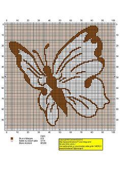 Papillon, designed by Le blog de Passionbroderie77 blogger, Corinne Thulmeaux.