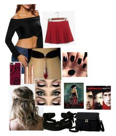 """""""Black fingernails, Red wine."""" by neverendingvoid on Polyvore featuring Casetify, Kenneth Cole Reaction and Charlotte Tilbury"""
