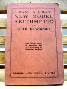 Vintage 1930s school text book Browne and Nolan's New Model Arithmetic for fifth standard pocket size paperback 1932 school book maths by TrooperslaneBooks on Etsy