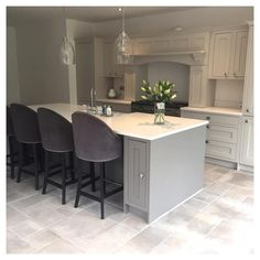 The radiators are in & we have heating 🙌 so can now actually sit in the new kitchen without freezing 😄 perfect Sunday morning ☕… Open Plan Kitchen Living Room, Kitchen Dining Living, Home Decor Kitchen, Diy Kitchen, Home Kitchens, Kitchen Design, Grey Kitchens, Kitchen Furniture, Kitchen Orangery