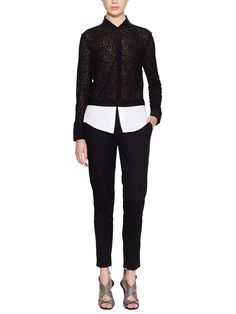 Cotton Shirt-Tail Pant from Luxe Textures Feat. Pringle of Scotland on Gilt