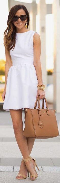 White Sleeveless Mini Dress thegoodbags.com Website For Discount michael kors bags. lowest price