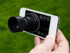 """""""Daylight Viewfinder"""" on Kickstarter: A viewfinder eyepiece for the iPhone, iPod touch, and iPad that blocks out external light to make taking pictures and videos outside in bright sunlight easier. Just start the special app, turn the suction ring to attach the Daylight Viewfinder, and you are ready to take pictures in the brightest of conditions."""
