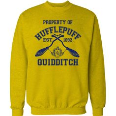 HUFFLEPUFF Quidditch Jumper Team Sweatshirt Screen Printed High... ($19) ❤ liked on Polyvore featuring tops, hoodies, sweatshirts, unisex tops, cut loose tops, loose cotton tops, relaxed fit tops and loose fitting tops