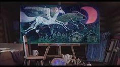 星空をペガサスと牛が飛んでいく