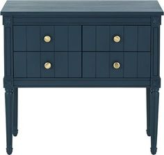 Bourbon Vintage cabinet, Dark Blue from Made.com. Express delivery. This cabinet adds a hint of vintage style. Inspired by French neoclassical lines..