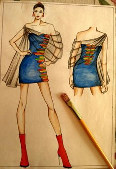 44 New ideas fashion ilustration croquis art Fashion Figure Drawing, Fashion Drawing Dresses, Fashion Illustration Dresses, Dress Illustration, Dress Fashion, Drawing Fashion, Dress Design Sketches, Fashion Design Sketchbook, Fashion Design Drawings