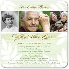 Like the wording of this card | Opa's Memorial Service | Pinterest ...