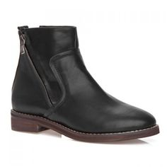 like this casual boot with a zip