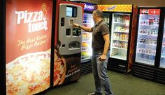 Pizza Vending Machines Are Now Operational in Florida! The #pizza costs $6, and is made by the machine in about two minutes. For now, the company, called #PizzaTouch, is testing out the concept, with plans to expand if it proves successful.