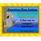 Fraction Zoo Action Brain Booster Game Cards!  Learn to compare fractions the fun way!  These cards help students learn which fractions are greater...