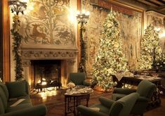 Biltmore House in Asheville, NC...68 Christmas trees inside the house and 55 additional around the estate