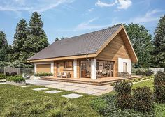 Fotografija projekta Murator C333u Autoritativna varijanta XVIII WAJ3855 Next At Home, Home Fashion, Tiny House, Building A House, House Plans, Vogue, Exterior, Cabin, House Design