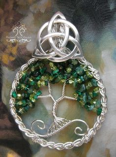 """""""Celtic Forest"""" Another Celtic-themed Tree of Life pendant. Enjoy! Etsy link: https://www.etsy.com/listing/184566677/celtic-irish-tree-of-life-wire-wrapped?"""