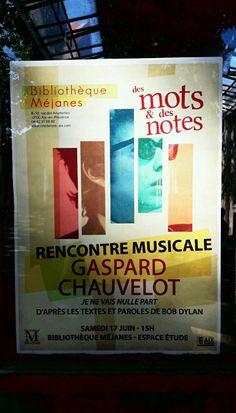 Gaspard Chauvelot parle Dylan  La Mejanes Aix en Provence . Des mots et des notes . June 17 . ICphotos