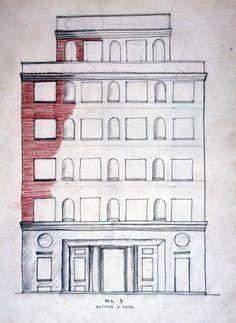 Disegni di architettura anni '20 - Giò Ponti