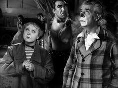 "La Strada (1954, dir. Fellini) - The Fool: ""What a funny face! Are you a woman, really? Or an artichoke?"""