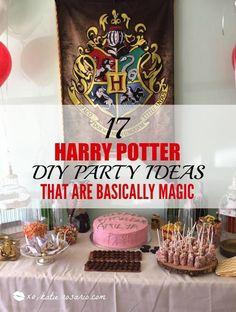 I am so excited to throw a harry potter party! these diy party ideas are Party Harry Potter, Harry Potter Fiesta, Cumpleaños Harry Potter, Harry Potter Halloween, Harry Potter Christmas, Harry Potter Birthday, Harry Potter Navidad, Anniversaire Harry Potter, Diy Party Decorations