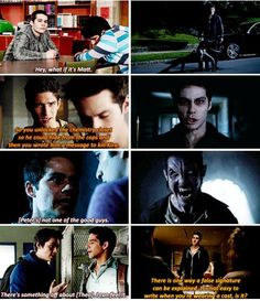 Teen Wolf - Stiles Stilinski  ---- you would think that he would've learned to listen to Stiles #stilesisneverwrong