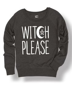 Look at this Heather Charcoal 'Witch Please' Pullover on #zulily today!