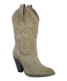 VOLATILE Tan Boulder Leather Cowboy Boot by VOLATILE #zulily #zulilyfinds