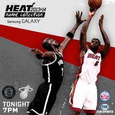 Nets vs Heat 7 pm on Sun Sports and ESPN