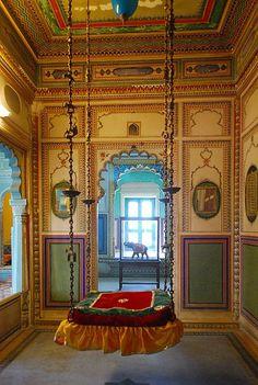 Maharajah Swing, Udaipur City Palace, India....Who dosent like a swing!