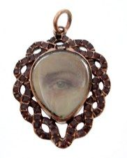 Antique lover's eye pendant