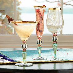 Blooming Glassware adds sparkle to any party.