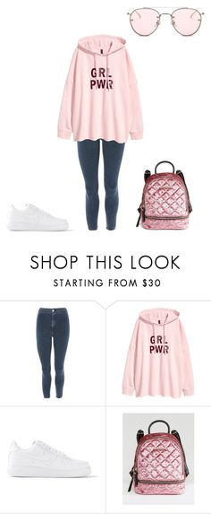 """Untitled #239"" by jesysminn on Polyvore featuring Topshop, NIKE and ALDO"