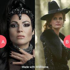 Regina or Zelena Tap to vote http://sms.wishbo.ne/U1ak/OqwvXXQHat