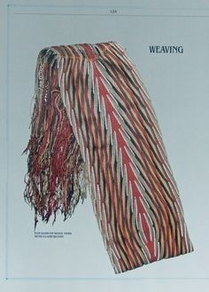 Fox Sash of Wool Yarn with Glass Beads, (Weaving) rare print art, People of the Lakes, Indians Finger Weaving, Iroquois, Magazine Ads, Native Americans, Wool Yarn, Bead Weaving, Sash, Lakes, Glass Beads