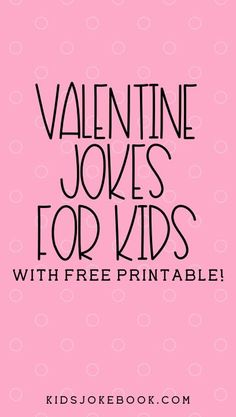 Valentine Jokes for Kids Cute Valentine's Day jokes are perfect for this time of year. There are so many great jokes, riddles, and puns! But we've gathered some of our favorite Valentine Knock Knock j Valentine Riddles, Valentines Day Jokes, Funny Valentine, Valentine Stuff, Summer Jokes For Kids, Valentine's Day Crafts For Kids, Valentine Crafts For Kids, Great Jokes, Funny Jokes For Kids