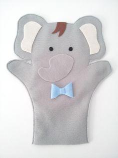 Fantoche elefante por Maneca Sapeca. https://www.elo7.com.br/manecasapeca/produtos