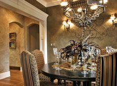 Home Interior Decorator Dallas Tuscan Decorating, Interior Decorating, Decorating Ideas, Tuscan Dining Rooms, Tuscan Style Homes, World Decor, Mediterranean Home Decor, Dining Room Inspiration, Elegant Homes