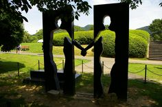 "Infinity"" sculpture in Nagasaki Peace Park"