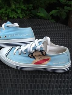 Paul Frank Pro Keds Julius Monkey Tennis Shoes Blue Fabric Adorable Unisex FAB!! Just Make An Offer.....Offering Great Deals and Super Low Prices with 100% Positive Feedback Since 2001!!!!!!!!!