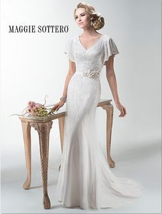 Coming soon to The Bridal Cottage: 'Payton' from designer Maggie Sottero! #bridalcottagebride #maggiesottero #sotteroandmidgley